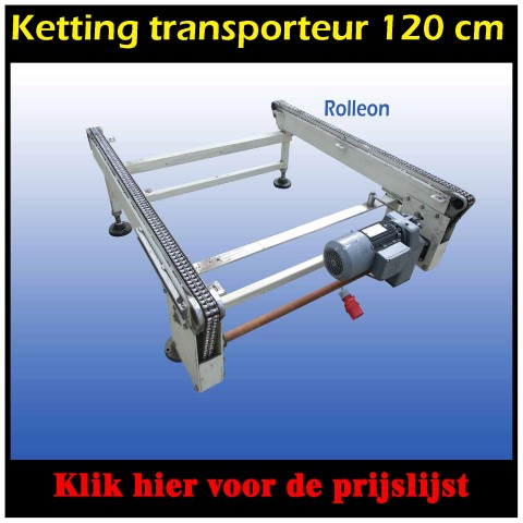 kettingtransporteur rollenbaan pallets
